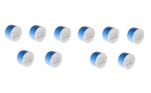 Pachet Promotional 10 x Boxa Portabila Bluetooth BT-90, 3W, Radio FM, Aluminiu, Editie Limitata - Centenarul Romaniei, Albastru Metalic