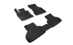 Covoare / Covorase / Presuri cauciuc stil tip tavita BMW X6 F16 dupa 2015-prezent (5 bucati) - SEINTEX