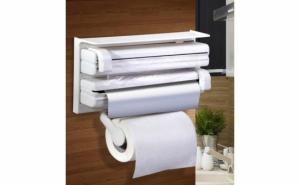 Dispenser de bucatarie pentru hartie, folie aluminiu si folie stretch Triple Paper