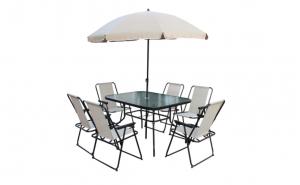 Umbrela de terasa antivant 240 cm + cadou suport metalic