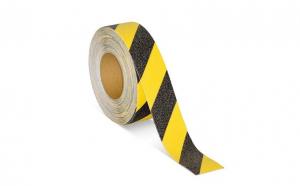 Banda adeziva antialunecare negru / galben 5cm X 5m