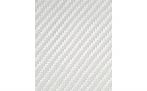 Rola folie carbon 3D alba latime 1.27m x 30m