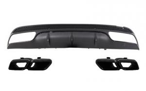 Difuzor Bara Spate cu Ornamente compatibil cu Mercedes Benz W205 C-Class (2014-up) C63 AMG Design