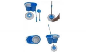 Mop rotativ fara pedala cu doua rezerve, Grunberg, albastru