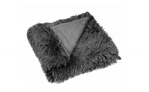 Patura blana gri inchis Shaggy 160x130