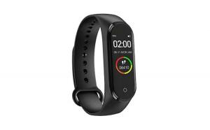 Bratara fitness, M4 Plus, Fit Pro, ecran color HD, ritm cardiac, puls, pasi, distanta, calorii, apeluri, notificari facebook, whatsapp, sms