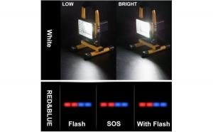 Proiector portabil cu LED-uri, acumulator reincarcabil si suport