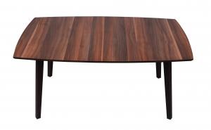 Masuta de cafea cu picioare din lemn, culoare imitatie mahon, model MO7004