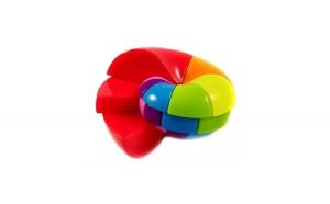 Cub Rubik 3x7 Nautilus rainbow FanXin