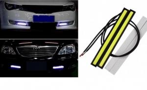 Set 2 benzi LED auto albe, 6W, consum redus, la doar 49 RON in loc de 229 RON