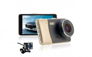 Camera auto dubla fata-spate Full HD - design deosebit