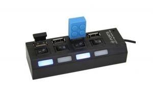 Hub Usb 4 porturi cu butoane individuale on/ off