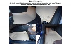 Covoare cauciuc stil tavita BEJ BMW F10/F11 seria 5 facelift 2013-> ( 3D 0024, A