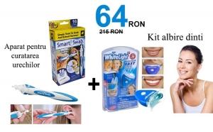 Aparat pentru curatarea urechilor + Kit de albire pentru dinti
