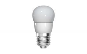 Bec LED Tungsram E27 forma sferica, 5,5W, 10000 ore, lumina calda
