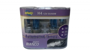 Set 2 Bec Auto 12V,55-60W H4 Halogen, White +110%