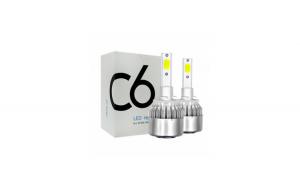 Set de 2 becuri COB C6 H27 36W