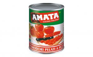 Rosii decojite cuburi AMATA - 800 gr