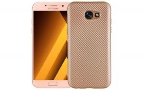 Husa Samsung Galaxy A7 2017 i-Zore Carbon Fiber Auriu