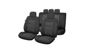 Huse scaune auto compatibile DACIA Logan II 2012-prezent PLUX (Negru UMB4)