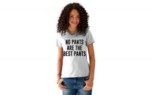 Tricou dama alb -  No PANTS