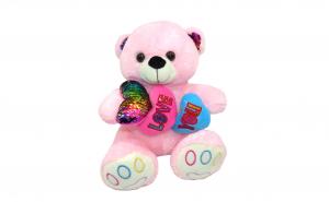 Ursulet plus roz, cu inimioare
