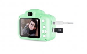 Camera foto copii + Card 32GB, Verde
