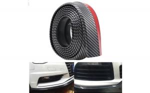 Banda Protectoare Cauciuc Auto, model fibra de carbon, 2.5 M