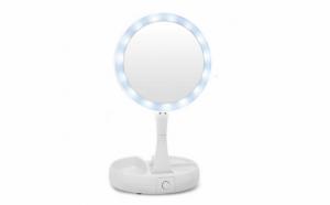 Oglinda cosmetica fata/spate-  cu Iluminare (Factor de marire: 1x / 10x)