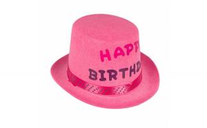 Palarie aniversara pentru fete Happy