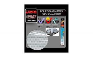 Folie geam Matrix 300x50cm - Crom