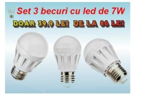 Plateste mai putin la factura electrica: Set 3 becuri cu LED la 39.9 RON in loc de 86 RON