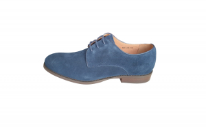 Pantofi eleganti barbati, Piele intoarsa ,Swbsa, S826-41L,Bleumarin