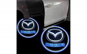 Proiectoare Portiere cu Logo Mazda -