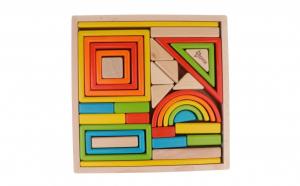 Rainbow, joc Montessori, 32 piese lemn