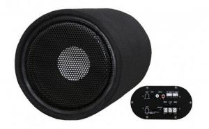 Subwoofer Bass Auto Activ cu Amplificator Incorporat 300W 16,5cm Voice Kraft 601-VK + Kit Cabluri Cadou VKFT-601-VK