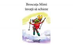 Broscuța Mimi învață să schieze