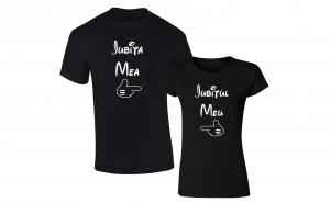 """Set de tricouri pentru cupluri de indragostiti """"Iubita mea/ Iubitul meu''"""