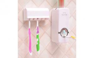 Dozator de pasta de dinti cu suport pentru periute