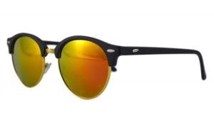 Ochelari de soare Retro II Portocaliu cu reflexii - Auriu