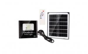 Proiector LED cu panou solar, 60W