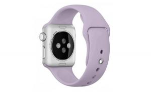 Curea compatibila cu Apple Watch 1/2/3/4, Bratara Sport din Silicon, 40mm, Mov