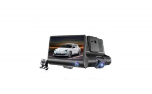 """Camera auto tripla video Reflection Vision® DVR : fata, spate, interior, display 4"""" inch Full HD , design tip monitor + Card MicroSD 32 GB"""