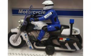 Motocicleta de politie cu sunete si lumini