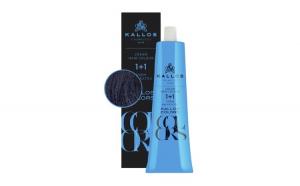 Vopsea de păr cremă Kallos Colors 1C negru albăstrui
