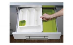 Organizator extensibil suport sertar tacamuri pentru bucatarie