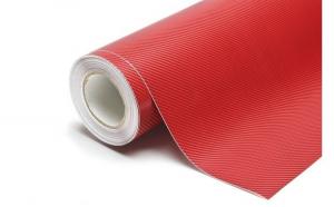 Rola folie carbon 3D rosie 10 m X 1.5m