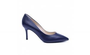 Pantofi dama din piele naturala, Elle, RIVA MANCINA, Albastru, 35 EU