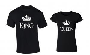 """Set de tricouri pentru cupluri ''King/ Queen"""""""
