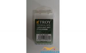 Set de biti Torx (T 25x50mm) Cr V  12 piese TROY